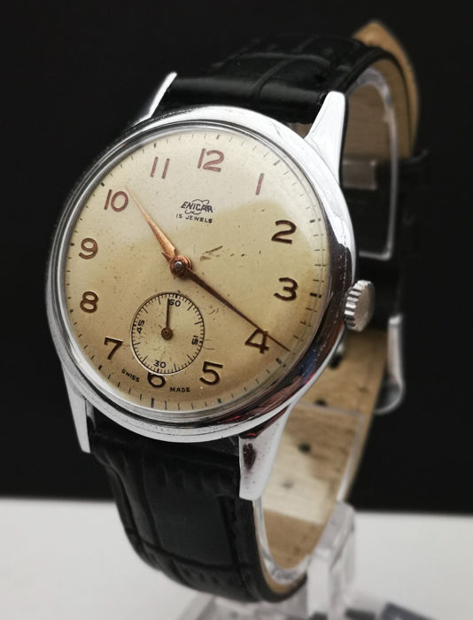 Enicar - Swiss Made - (mov. 980/1010)  - 16 Jewels -  Big Size 36,7 mm !! - Heren - 1960-1969
