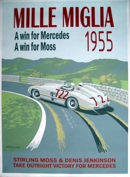 Decorative object - Mercedes-Benz #722 Moss/Jenkingson Winners Mille Miglia  - 1955