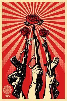 Shepard Fairey (OBEY) - Guns And Roses (Offset)
