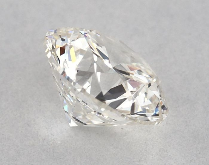 1 pcs Diamant - 0.55 ct - Brillant, Rund - G - VVS2