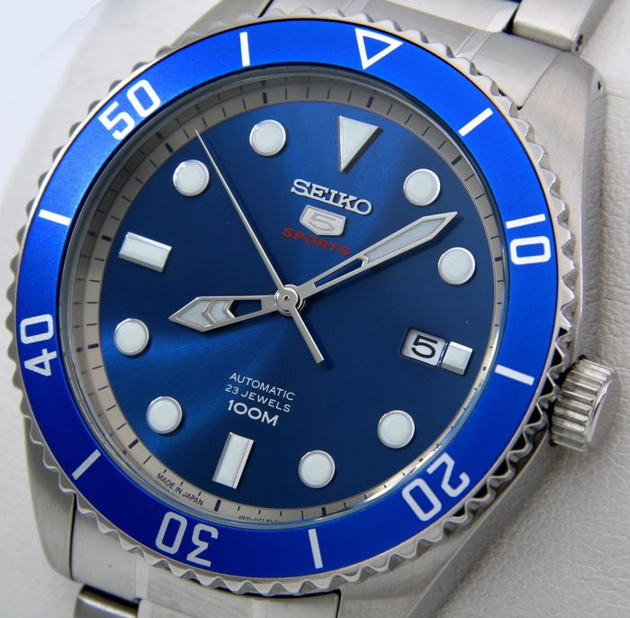"""Seiko - Automatic 23 Jewels """"Blue Dial"""" - """"NO RESERVE PRICE"""" - Heren - 2018"""