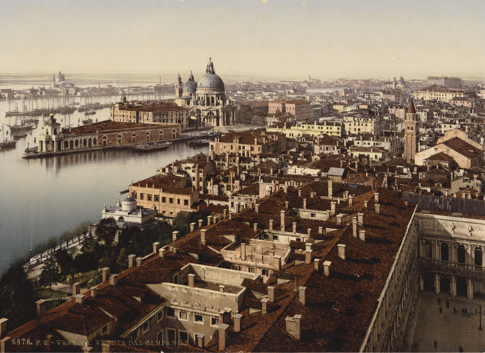 P.Z. Photochrom - Venezia, Italy, lot of (4) views