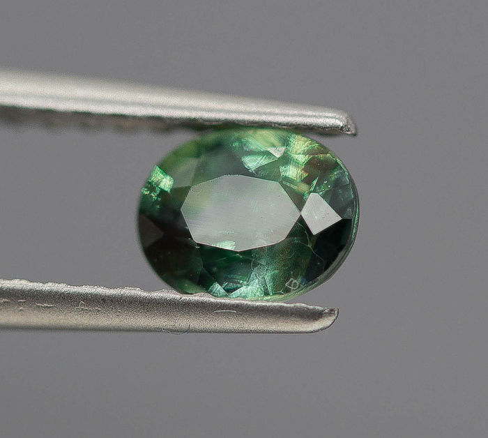 Grøn, Gul Demantoid Garnet - 1.11 ct