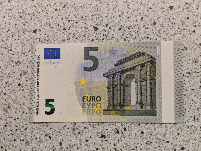 Europese Unie - 5 and 10 Euro 2013/14 - Draghi - error notes - without hologram