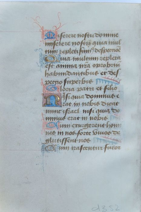 Manuscript; Sheet from a book of hours - ca. 1450