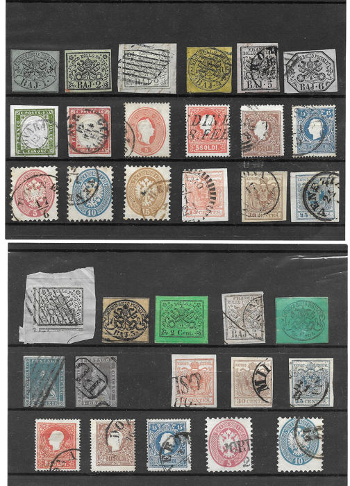 Oude Italiaanse staten 1850 - Selection of stamps