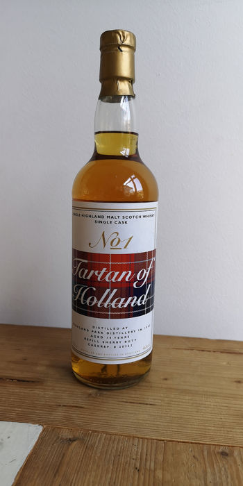 Highland Park 1992 14 years old Tarten of Holland no. 1 - Single cask 20362 - 0,7 Liter
