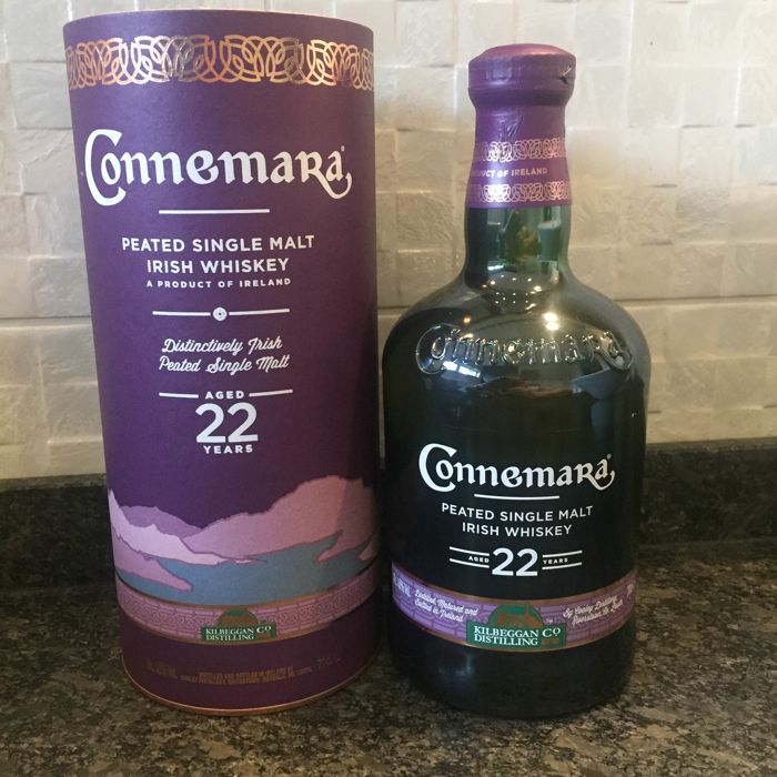 Connemara 22 years old peated single malt Irish whiskey - Official bottling - 70cl