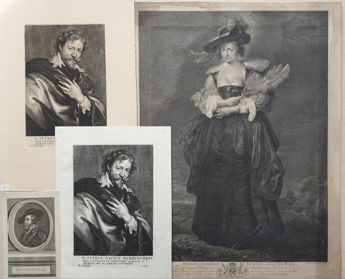 4 prints - Paul Pontius after Anthonie van Dyck & other - Peter Paul Rubens Prints Collection
