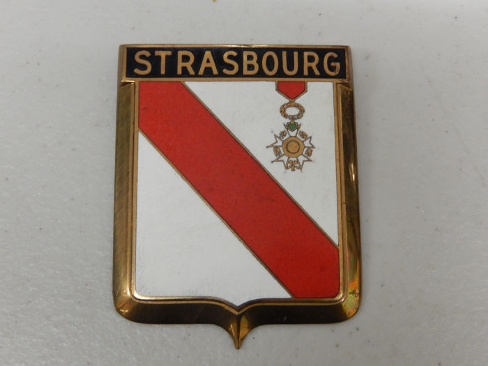 Insigne - New Unused Vintage Enamel Drago Strasbourg Car Badge Auto Emblem - 1960
