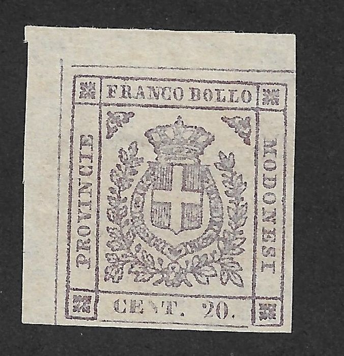 Modena 1859 - Provisional Government, 20, 40 and 80 cents - Sassone N° 16, 17, 18
