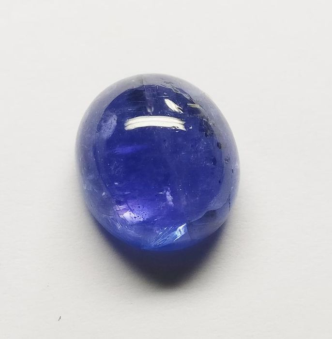 1 pcs Violetish Blue Tanzaniet - 12.84 ct
