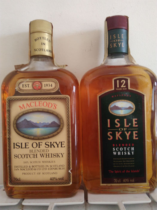 Isle of Skye 12 years old - b. Jaren 1990 - 0,7 Liter - 2 flessen