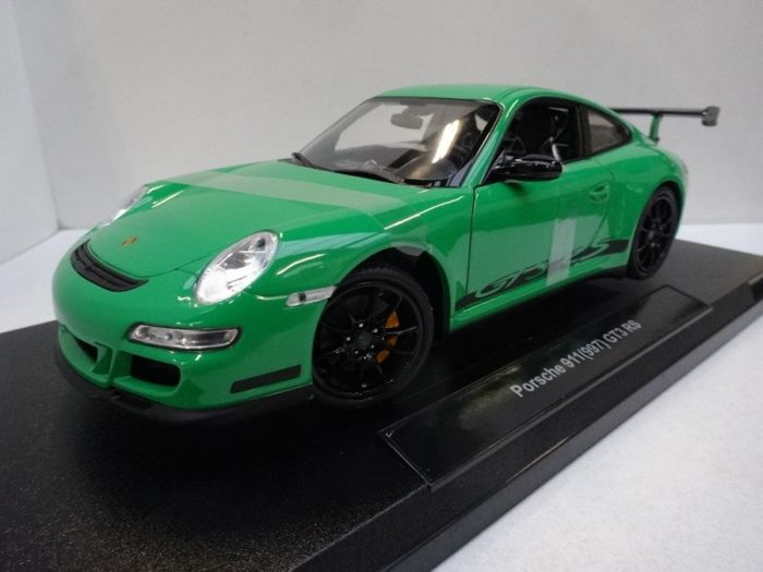 Welly - 1:18 - Porsche 911 (997) GT3 RS Green/Black Stripes Edition