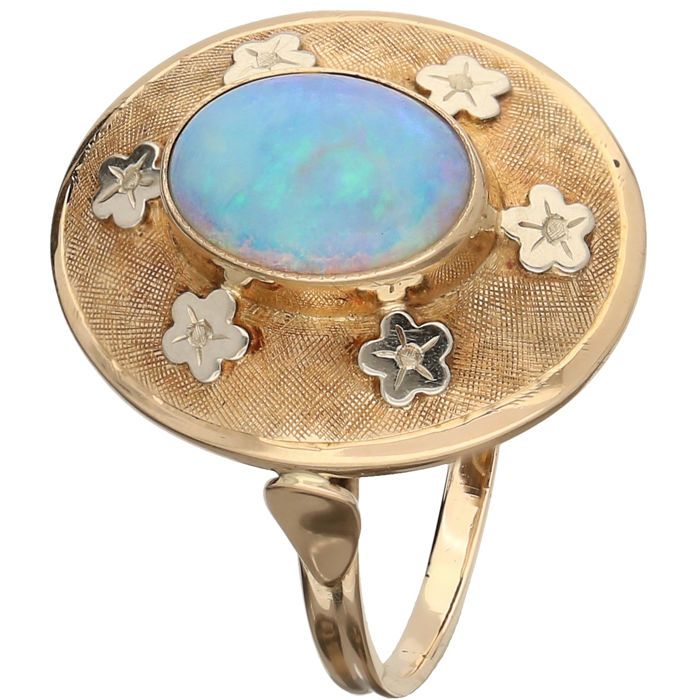 14 kt Gelbgold - Ring Opal