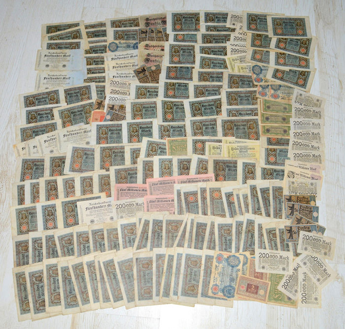 Duitsland - Collection of 200 notes - many duplicates