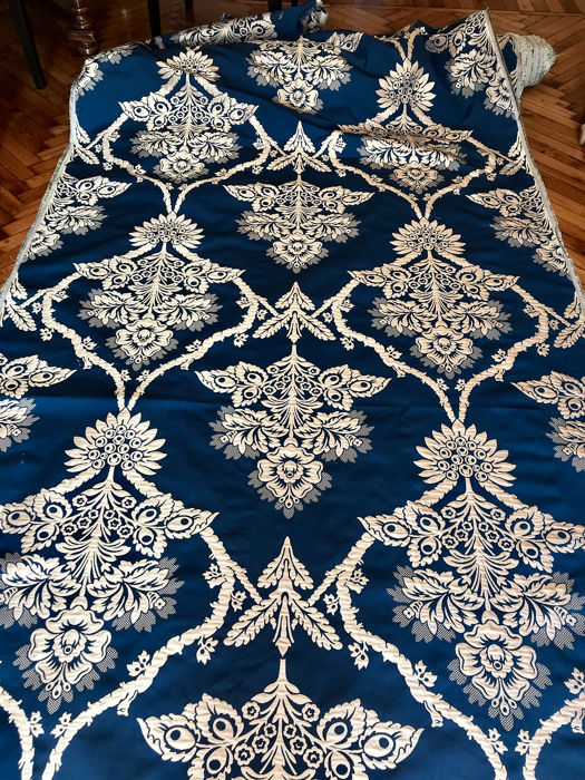 6 m x 140 cm Majestic San Leucio silk and wool fabric - silk, wool