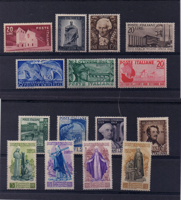 Republiek Italië 1948/1949 - St. Catherine and various single pieces, wheel period