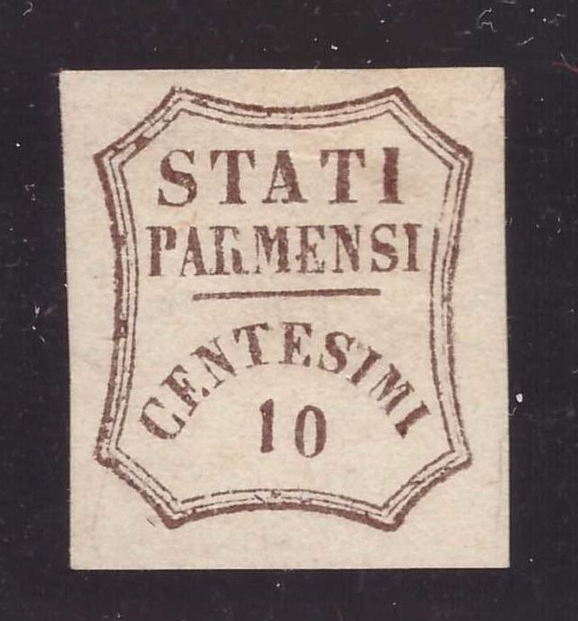 Parma 1859 - 10 cents brown Provisional Government - Sassone N. 14