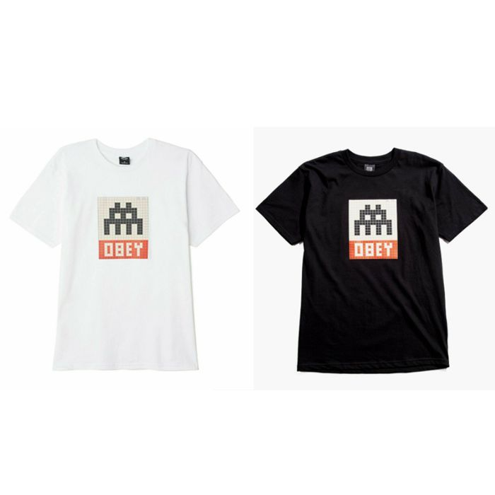 Shepard Fairey (OBEY) x Invader - T-Shirts (Size XL)