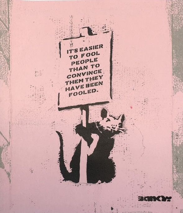 Not Not Banksy / STOT21stcplanB / The Real Not Banksy - Is it possible to milk a dead rat