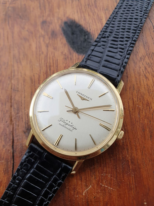 Longines - Flagship - Automatic - Gold 18K - Linen Dial - cal.340 - ca.1960 - ref.3403 - Heren - 1960-1969