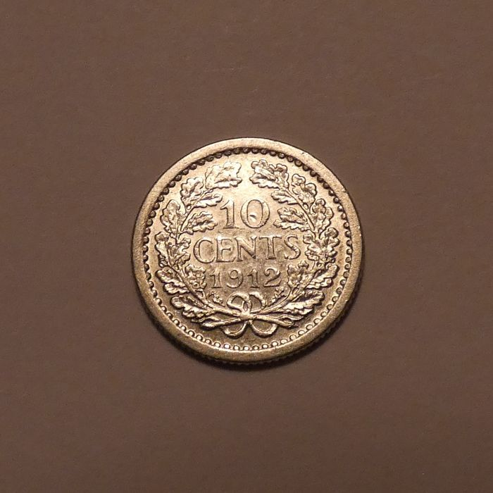 The Netherlands - 10 Cent 1912 a hoge kroon - Silver