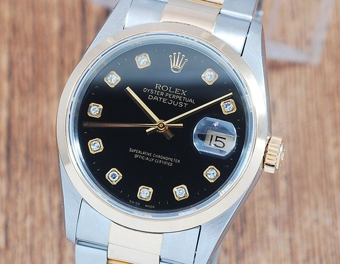Rolex - Oyster Perpetual DateJust  - 16203 - Homme - 1990-1999