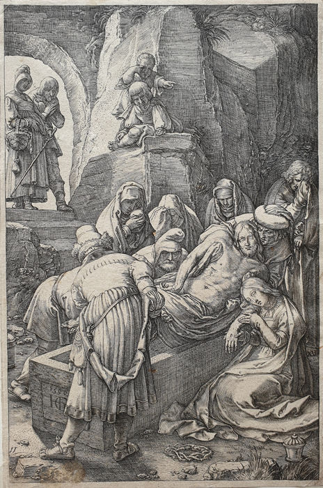 Hendrick Goltzius (1558-1617) - The Entombment of Christ