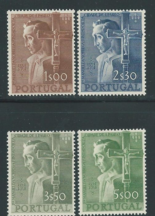Portugal 1954 - 4th Centennial of the Foundation of the City of São Paulo - Mundifil 802/805