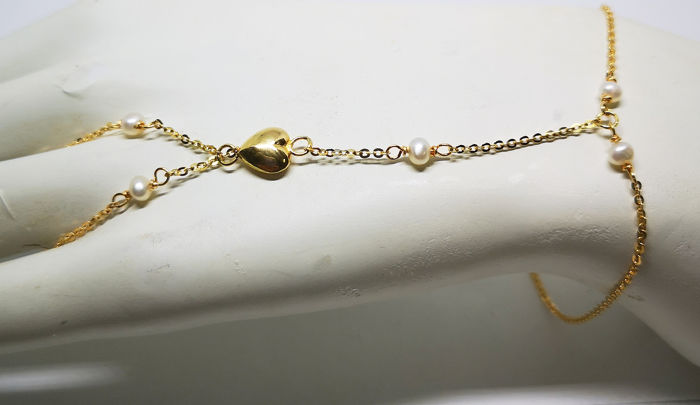 18 kt. Yellow gold - Bracelet Pearl