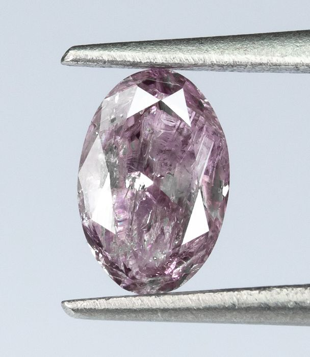 Diamante - 0.22 ct - Natural Fancy INTENSE Purpurino Rosa - I3  *NO RESERVE*