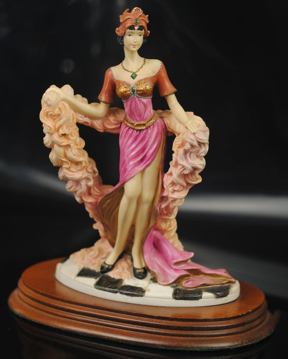 """Le Charleston"" 1988 Leonardo Collection - Figure art déco"