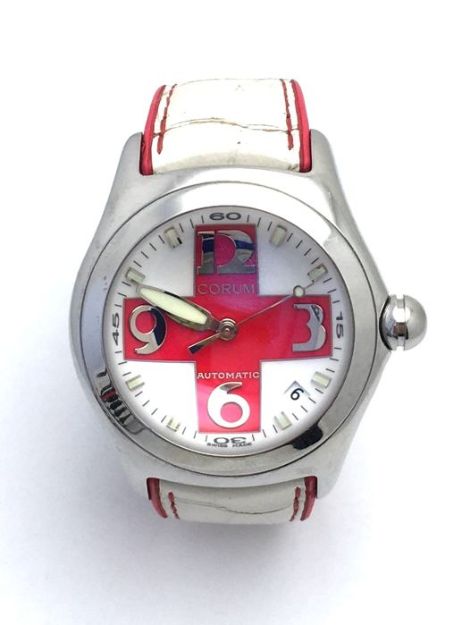 Corum - Bubble Red Cross Limited Edition 200pc - 82.150.20 - Uomo - 2000-2010