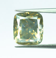 Diamante - 4.01 ct - Marrón amarillento natural de lujo - SI2
