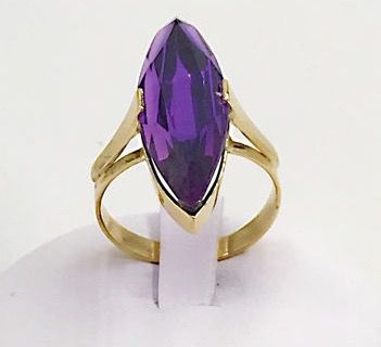 18 kt. Yellow gold - Ring - 3.00 ct Amethyst