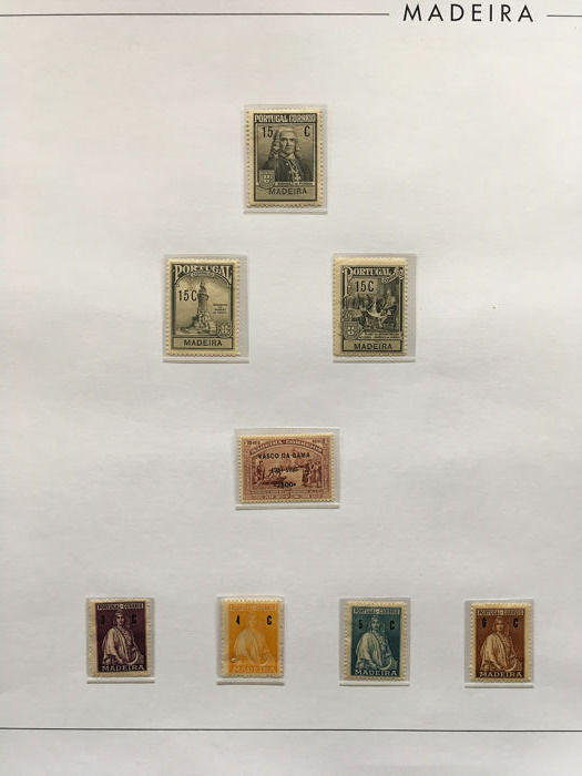 Madeira 1898/1924 - Advanced collection from this period. Including complete sets