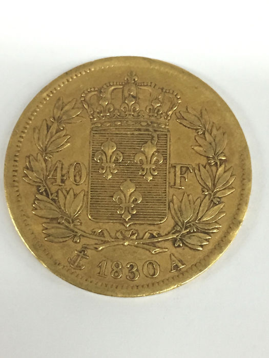 40 Francs 1830 A Charles X - Or