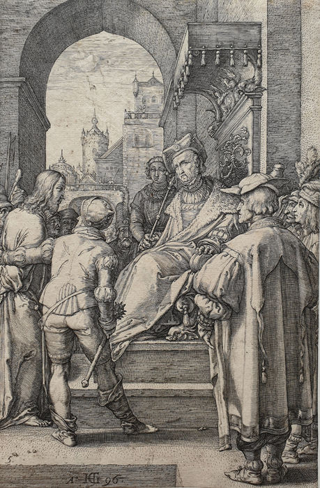 Hendrick Goltzius (1558-1617) - Christ before Pilate