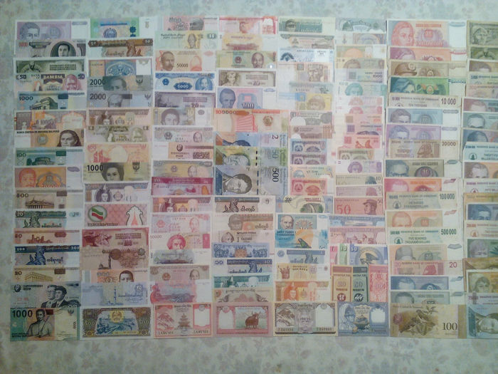 Wereld - Lot various banknotes (235 pieces)