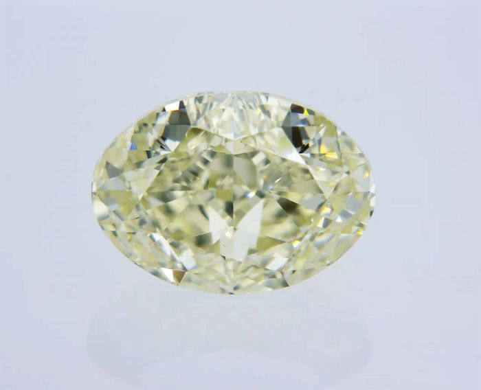 1 pcs Diamante - 2.03 ct - Ovalado - fancy yellow - VVS1