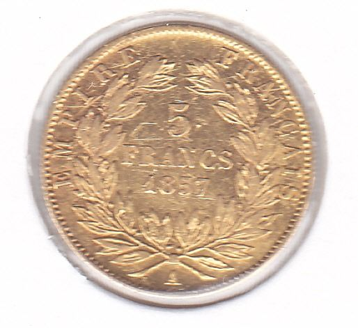 5 Francs 1857-A Napoleon III - Or