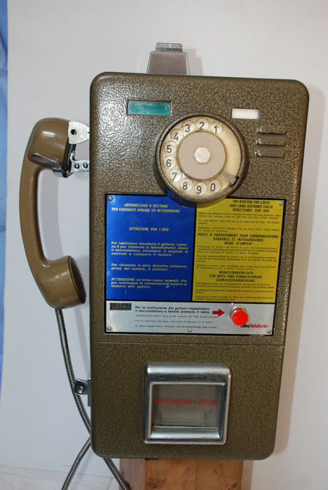 Coin-operated telephone SIP U + I from the 70s - Steel
