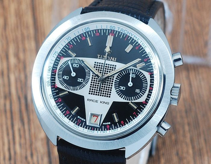 Titoni - Race King Chronograph - 3000 RK - Heren - 1970-1979