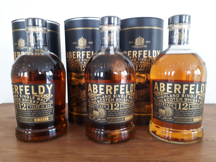Aberfeldy 12 years old - 70cl - 3 flessen