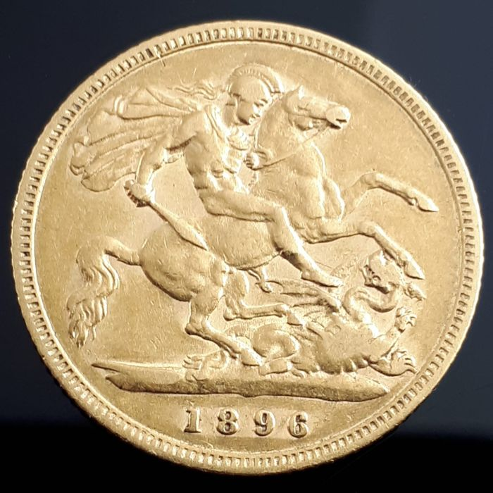 United Kingdom - 1/2 Sovereign 1896 Victoria 3rd portrait - Gold