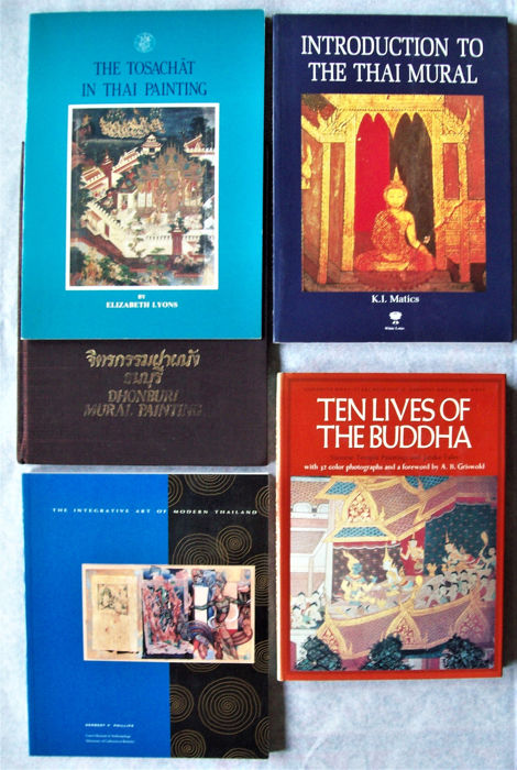 Various authors - Ten lives of the Buddha - Siamese Temple Paintings and Jataka Tales + 4 - 1972