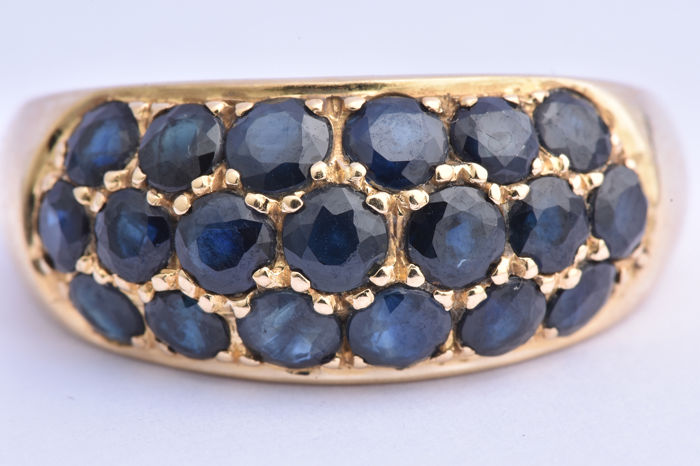 18 kt. Yellow gold - Ring - 2.70 ct Sapphire