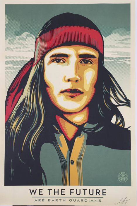 Shepard Fairey (OBEY) - We The Future Are Earth Guardians