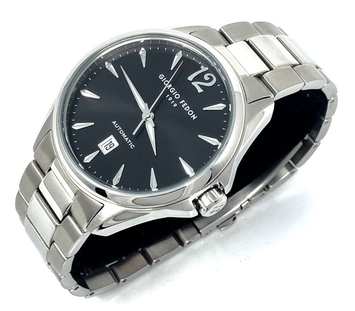 """Giorgio Fedon 1919 - Mechanical Automatic V Stainless steel Black Dial """"NO RESERVE PRICE"""" - GFAT002 - Heren - Brand New"""